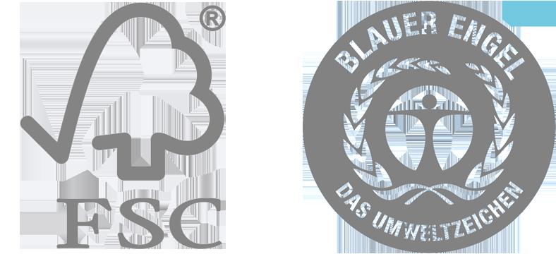 FSC und Umweltzeichen Blauer Engel