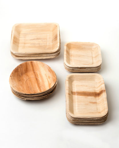 Palm leaf dishes by Compostella