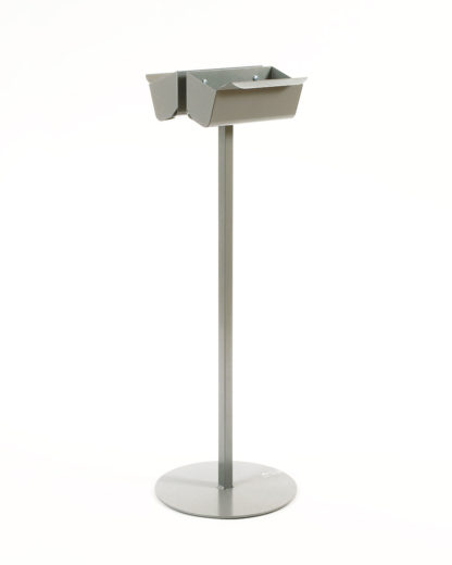Bag dispenser with stable stand and 2 dispensers