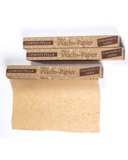 Compostella natural wax paper household roll