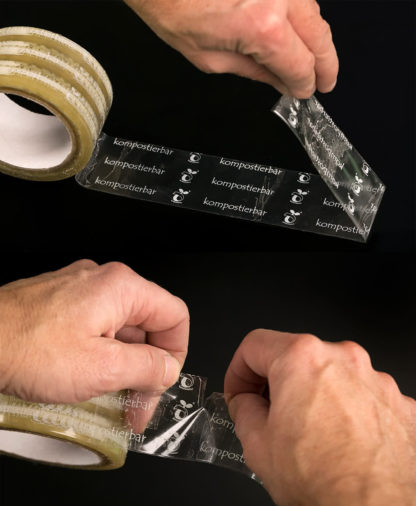 Klebio can be separated from the roll by hand and can be removed from the substrate without leaving any residue.