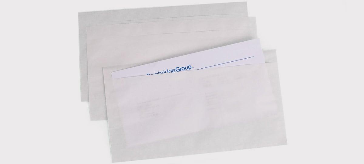 Lieferscheinhüllen aus Papier