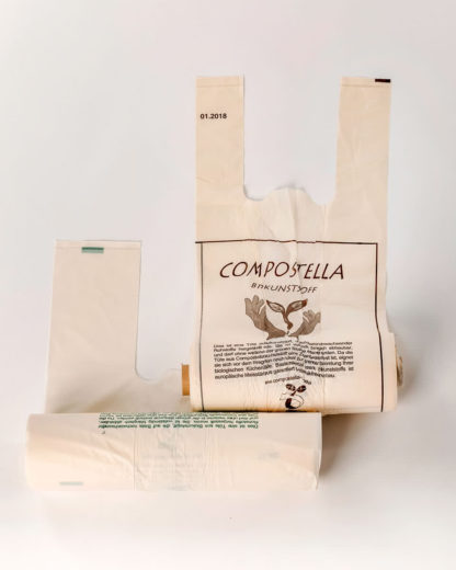 Compostella fruit and vegetable bags made of bioplastics