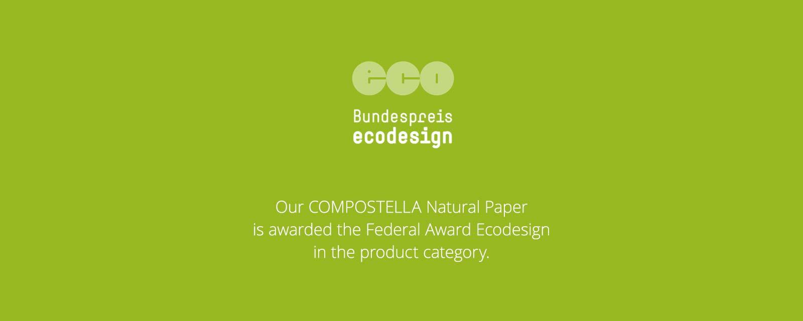 Compostella Federal Award Ecodesign 2018